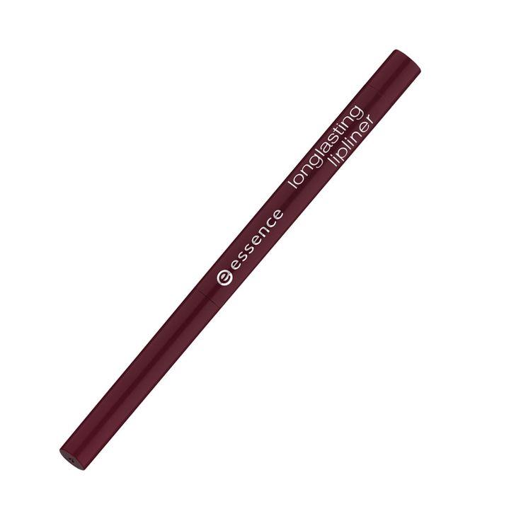 essence longlasting lipliner piirtää huulten rajat tarkasti. erittäin pehmeän koostumuksensa ansiosta rajauskynää on helppo levittää