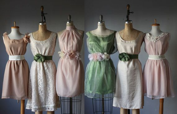 mismatched bridesmaid dresses in creamy pale by AtelierSignature, $99.99