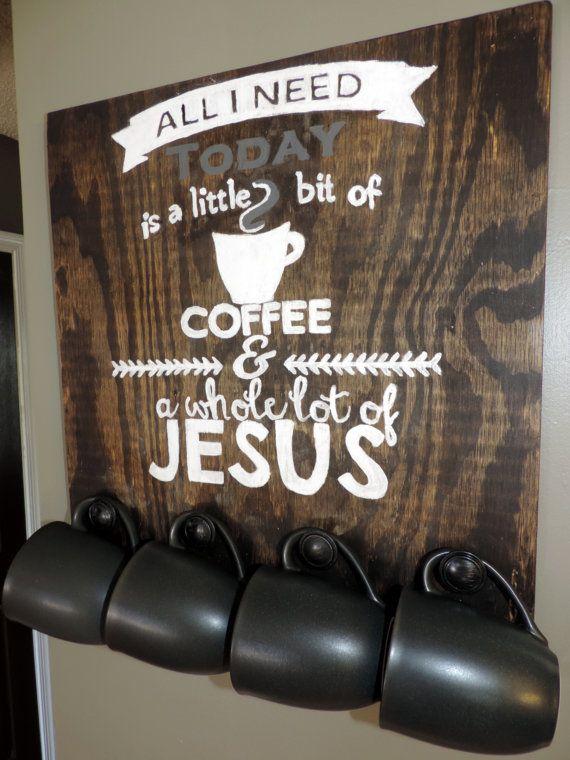 Little Bit Of Coffee Whole Lot of Jesus by GenelleLeAnneDesigns