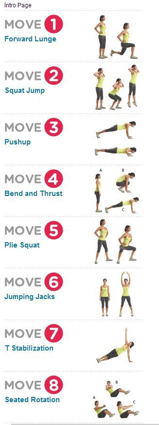 Workout At Home - Just do a regular squat instead of jumping and do a modified push-up (on your knees instead of on your toes).