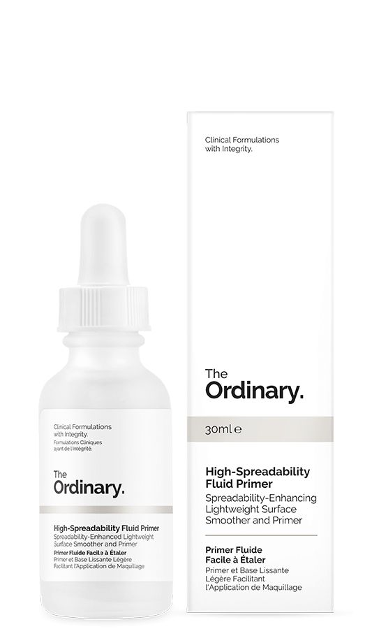 High-Spreadability Fluid Primer -This new generation of primer is a lightweight serum-like formula that increases the spreadability of subsequent complexion makeup to help avoid the unnatural and uneven accumulation of pigments especially around the eyes and on dry skin. The formula also acts as a light, non-oily surface hydrator for a natural dewy look.