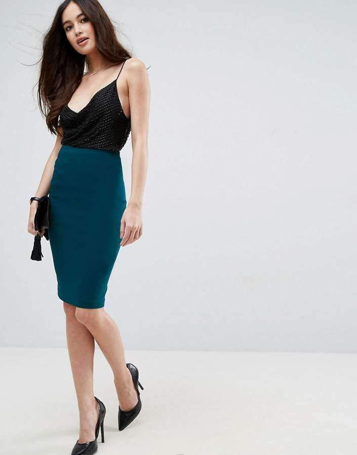 7d9e12e258ecdd ASOS High Waisted Pencil Skirt. Score a wardrobe win no matter the dress  code with our ASOS Collection own-label collection. #ShopStyle #asos  #fashion ...