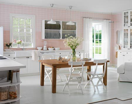 Oh my goodness! The #IKEA Pink #Kitchen that has inspired by current obsession with pink & white kitchens! :)