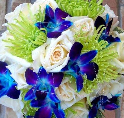 Blue green wedding bouquet - gorgeous! #WeddingPlanning #NewportWedding #BostonWedding