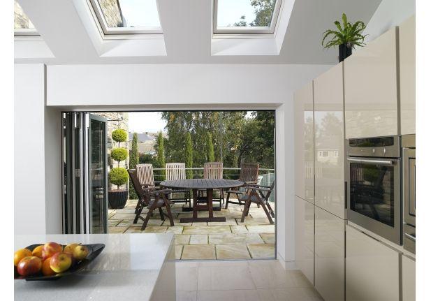 Velux kitchen extension windows. Nx