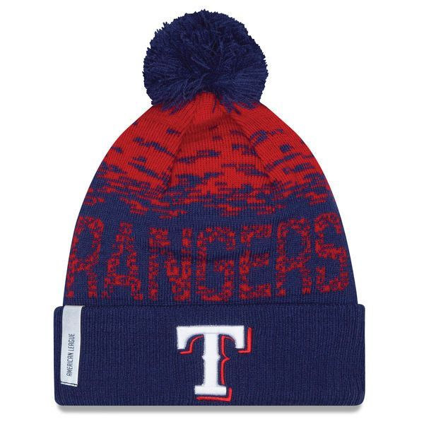 Texas Rangers New Era Youth Clubhouse On-Field Sport Knit Hat - Royal