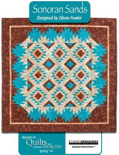 Still More Quilts: QM Rocks the Blocks. Sonoran Sands in fabrics from @RobertKaufmanFabrics