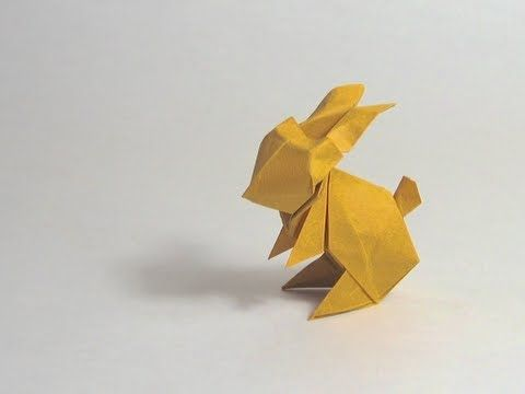Easter Origami Instructions: Rabbit (Jun Maekawa) - YouTube