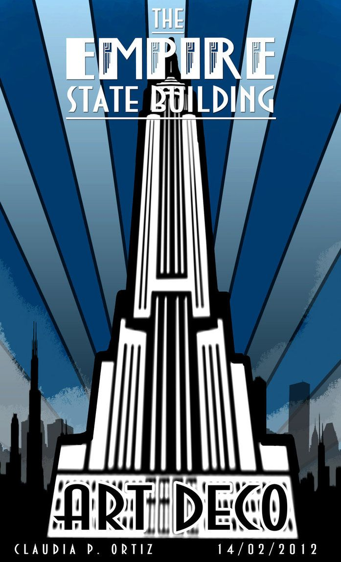 Empire state art deco by ayalete art deco pinterest for The art deco