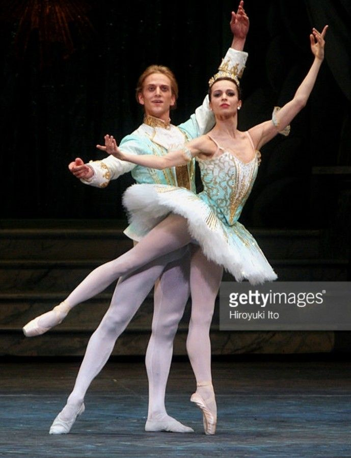 American Ballet Theater performing 'The Sleeping Beauty' at the Metropolitan Opera House on Wednesday night, June 6, 2007.This image;Diana Vishneva as Princess Aurora and David Hallberg as Prince Desire.