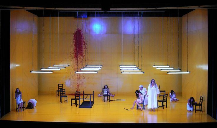 The House of Bernarda  Alba .Lorca ,Beer  Sheba Theatre ,Israel. 2014  model 1:25Director   : Gadi RollSet             : Roni TorenLighting     : Felice  RossCostumes: Jehudith Aharon
