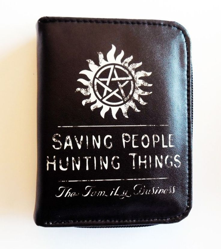 Supernatural Saving P Wallet Zippered Pouch, Pleather Vega, The Family Business #Unbranded #Envelope
