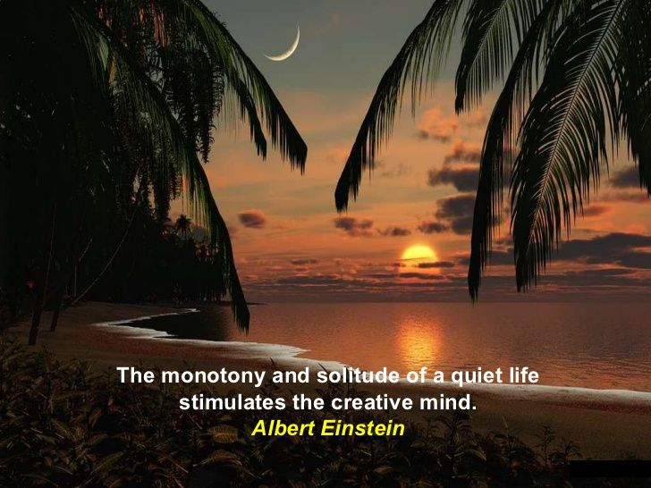"""~ """"The monotony and solitude of a quiet life stimulates the creative mind."""" ~ Albert Einstein"""