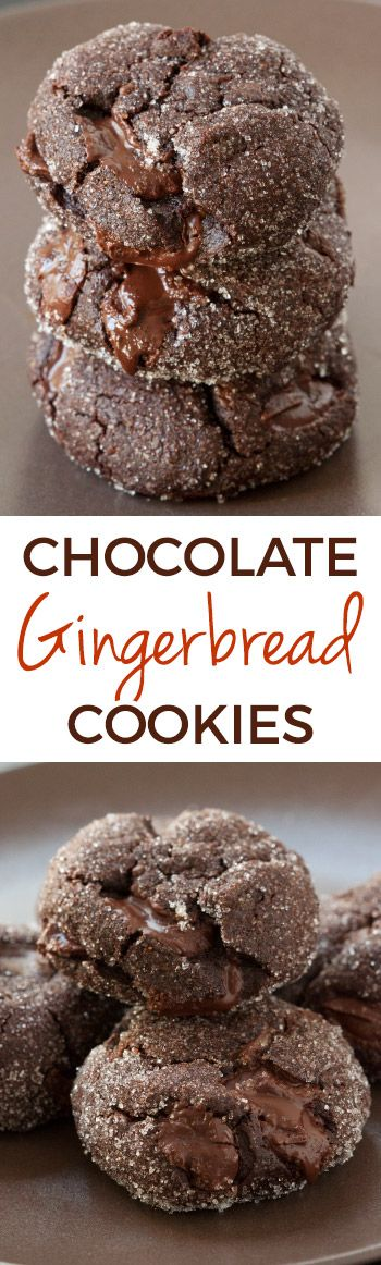 These chocolate gingerbread cookies are unbelievably soft, chewy and delicious! Can be made with all-purpose or 100% whole wheat flour and are naturally dairy-free.