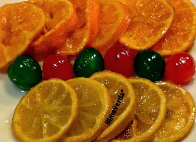 llimaverda: Fruta confitada o escarchada