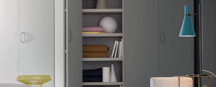 Alfa Intono, Wardrobes, Products | Novamobili. Essential contemporary geometries embodied in materials.  #wardrobe by #Novamobili. #interior #design #aboutWARDROBE