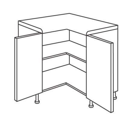 Best Lucerne 925Mm L Shaped Corner Base Unit Kitchen Cabinets 400 x 300