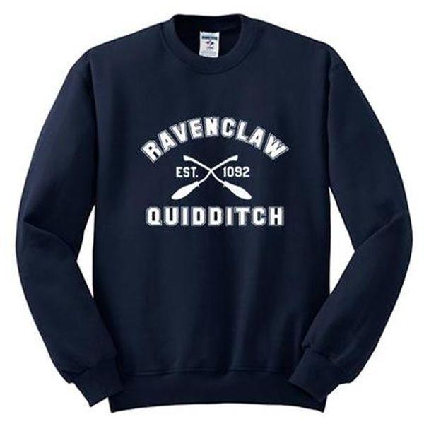 ravenclaw quidditch est 1092 sweatshirt