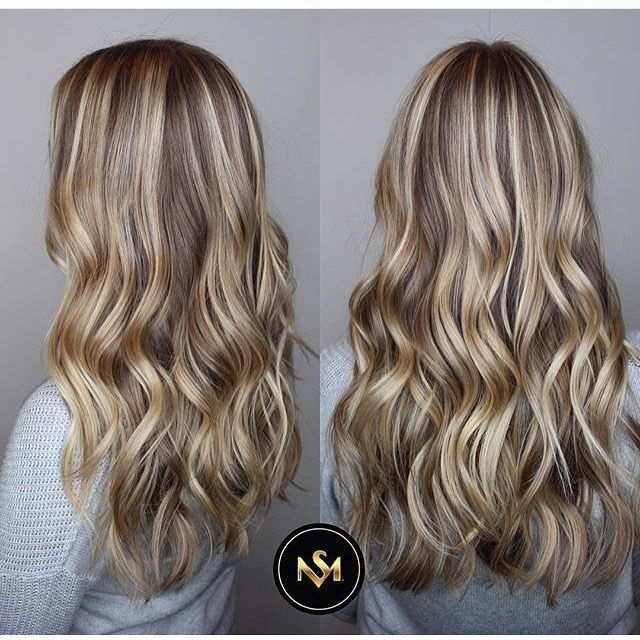 Color blend and dimension; soft golden blonde