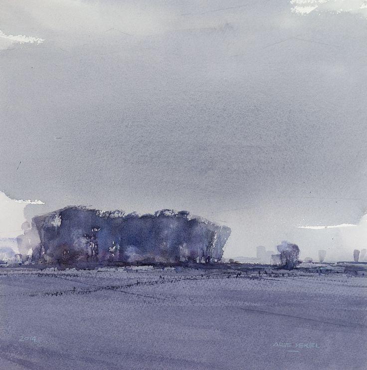 Arie Jekel | Cold Groningen | Watercolor