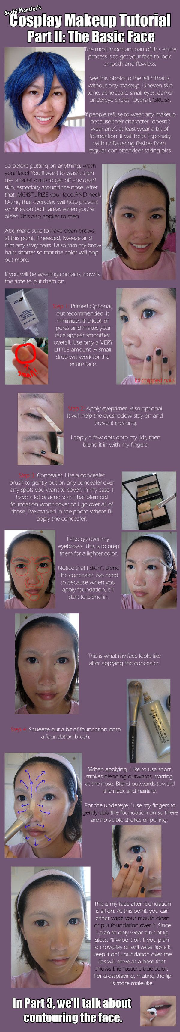 Cosplay Makeup Tutorial Part II by ~the-sushi-monster on deviantART