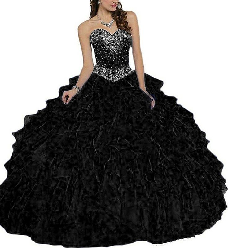 Fanciest Women's Organza Ruffles Ball Gown Long Quinceanera Dresses with Jacket Black US26W. Dear Customer,Welcome to Fanciest!Be a happy purchasing jouney:). we could custom made this dress for any size or color,if you need,please e-mail us with your exact measurements of your bust,waist,hips,hollow to floor with shoes or the color number.Thank you. The fabric is Organza with light, breathable and straight features. Dry clean or Hand wash. Can be used as Bridesmaid Dress, Wedding Dress...
