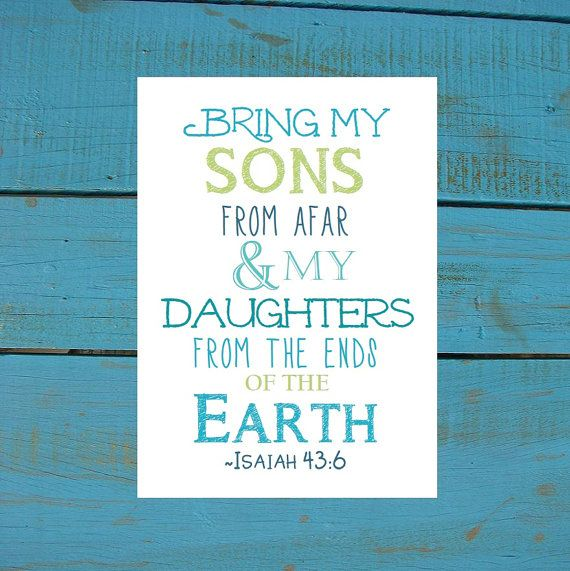 Isaiah 4:36 Gotcha Day Gift. Print and Pop into any frame. DIY Instant Downloadable File. Adoption Gift