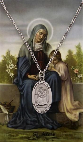 St. Anne Medal with Prayer Card. Everyone loves Jesus' grandmother.