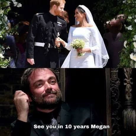 """Oh man. Now I'm waiting for 10 years to happen. The news be like """"Duchess Megan found mauled in a motel room. All doors and windows locked from the inside."""" Can you imagine TT^TT"""