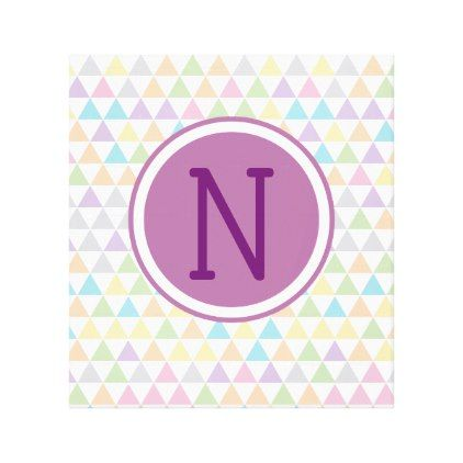 Pastel Baby Triangles Custom Initial Canvas Print - initial gift idea style unique special diy