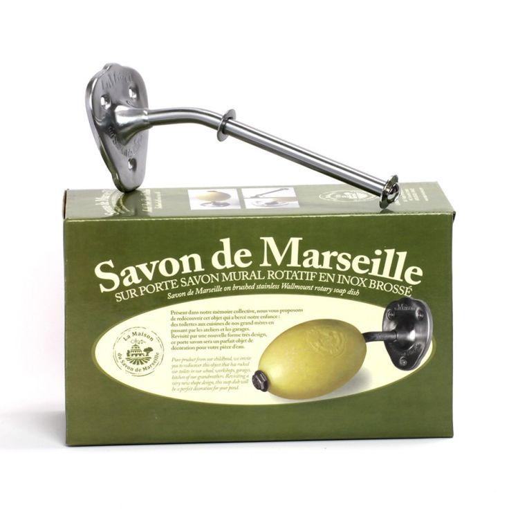 Porte savon mural - acier inoxydable mat - La Maison du Savon de Marseille