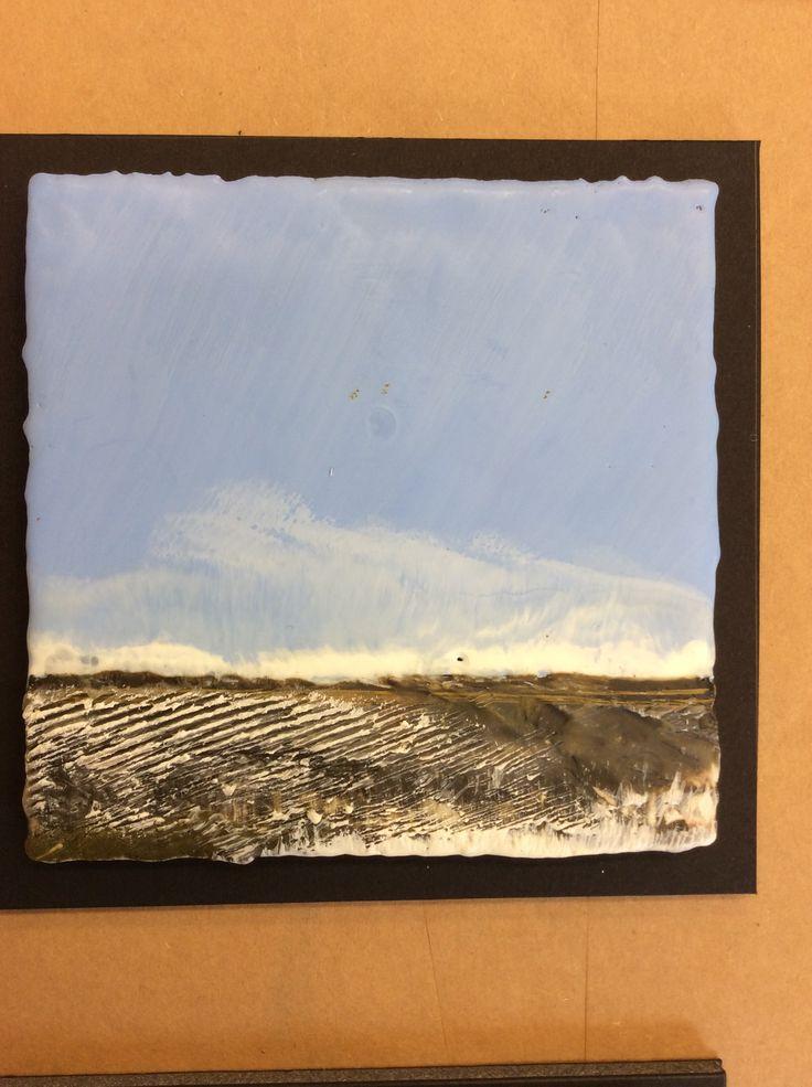 620 best images about encaustic cold wax on pinterest for Wax landscape