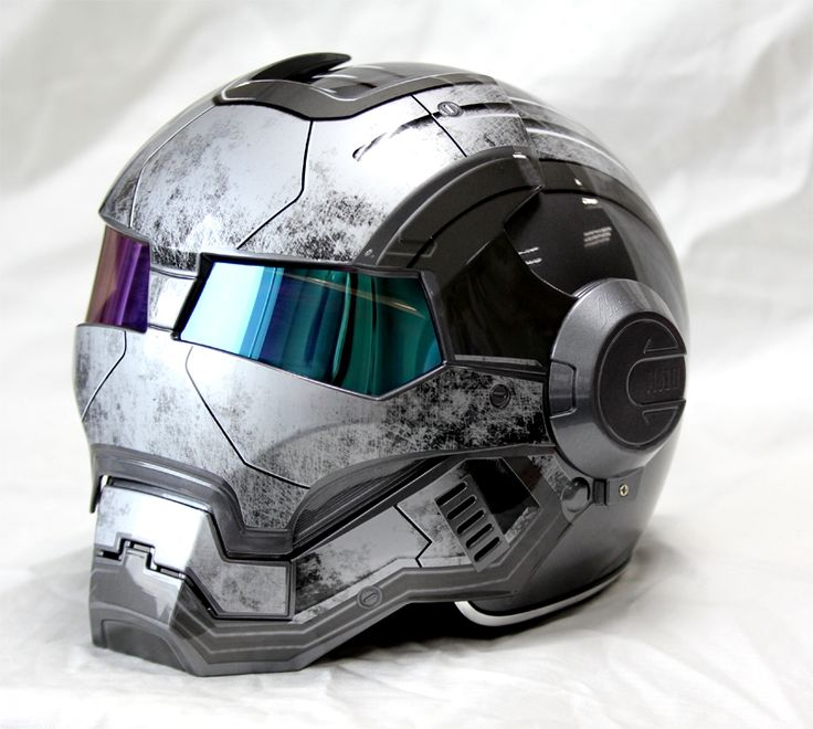 Masei Gray Star Trooper 610 Motorcycle Harley Chopper DOT Helmet FREE Shipping Worldwide