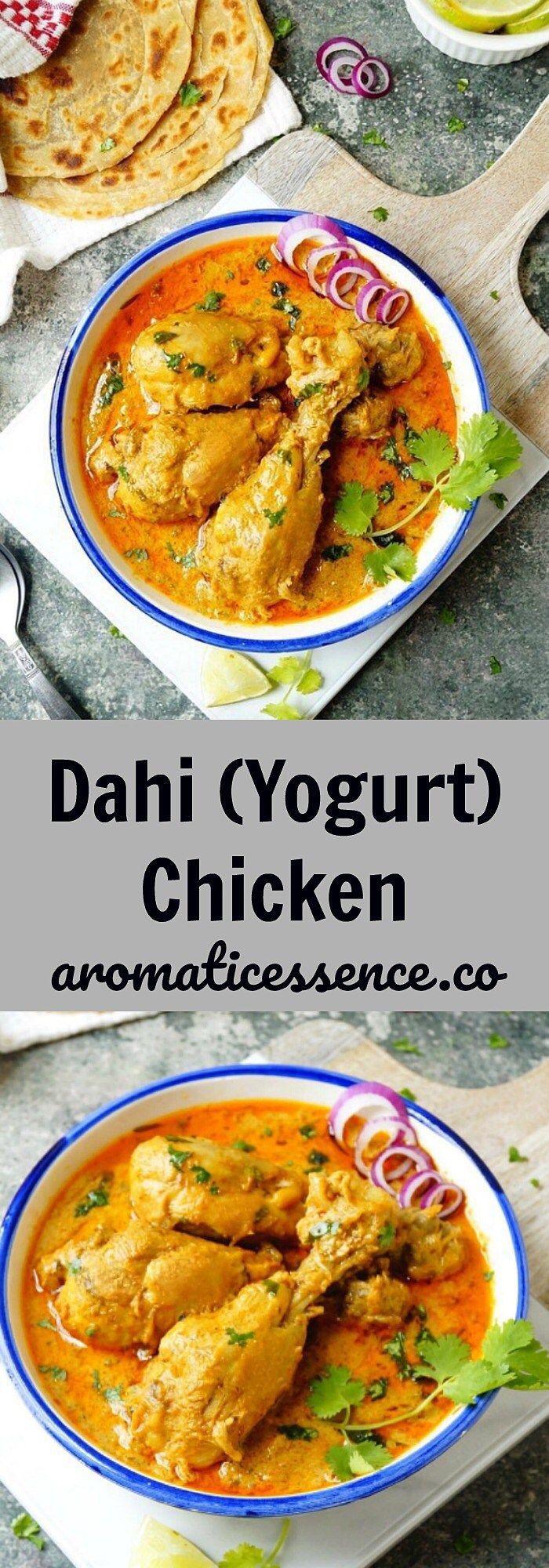 Dahi (yogurt) chicken - Aromatic Essence