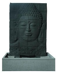 Buddha Face FountainLength x Width x Height Size: 105cm 50cm 150cm Material: Concrete Casting Colour: Charcoal* Includes: Pump only Price/Availability: Please contact us