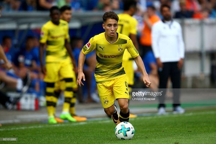Emre Mor of Dortmund runs with the ball during the preseason friendly match between VfL Bochum and Borussia Dortmund at Vonovia Ruhrstadion on July 22, 2017 in Bochum, Germany.