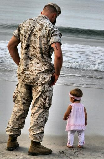 daddy watching his baby girl. <3 OMG I have to take this picture when she is able to walk. melts my heart.