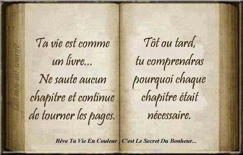 ta vie est comme un livre