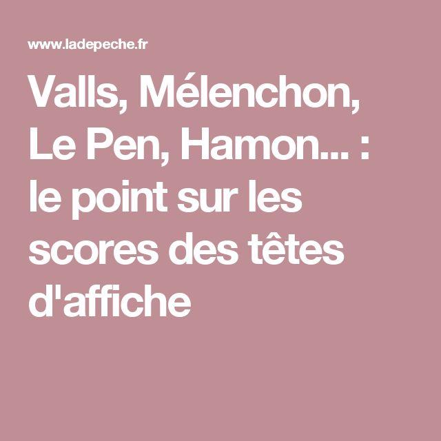 Valls, Mélenchon, Le Pen, Hamon... : le point sur les scores des têtes d'affiche