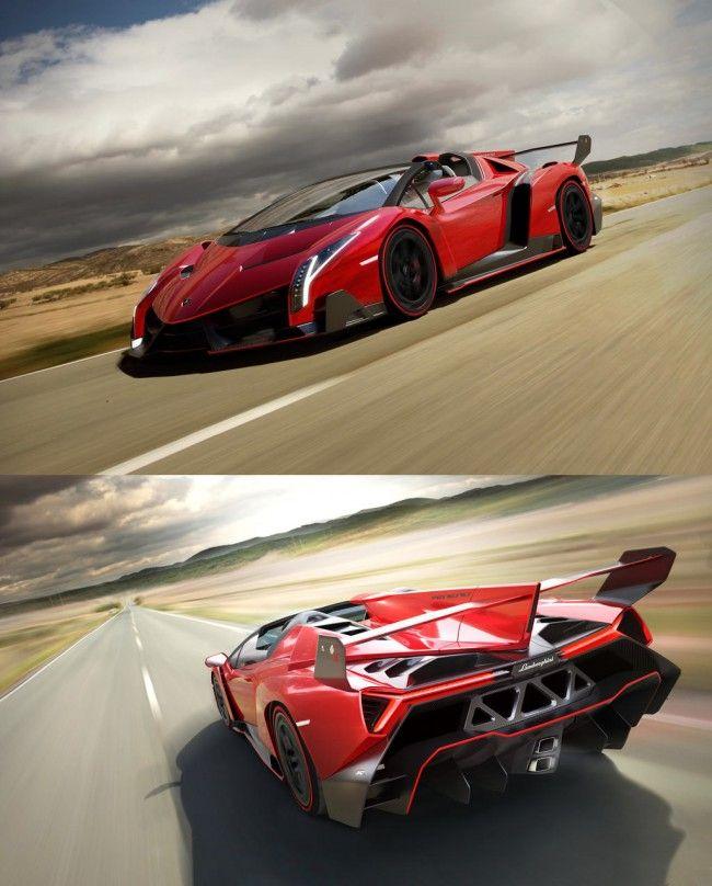 Lamborghini Veneno Roadster! $4.5 million... possibly the most expensive car in the world.