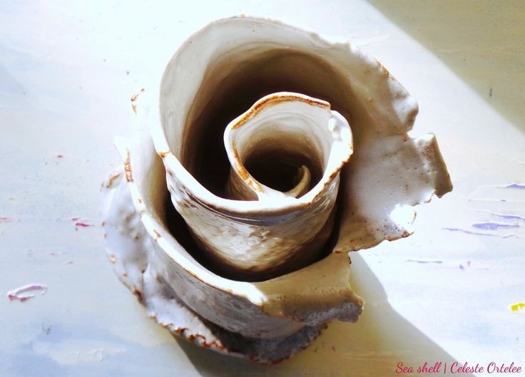 Sea shell - created in Japan with Japanese clay & glazing