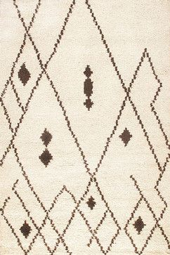 Rugsville Moroccan Beni Ourain HandWoven Ivory Wool Rug 13753, Tan & Ivory, 5'x8 mediterranean-rugs