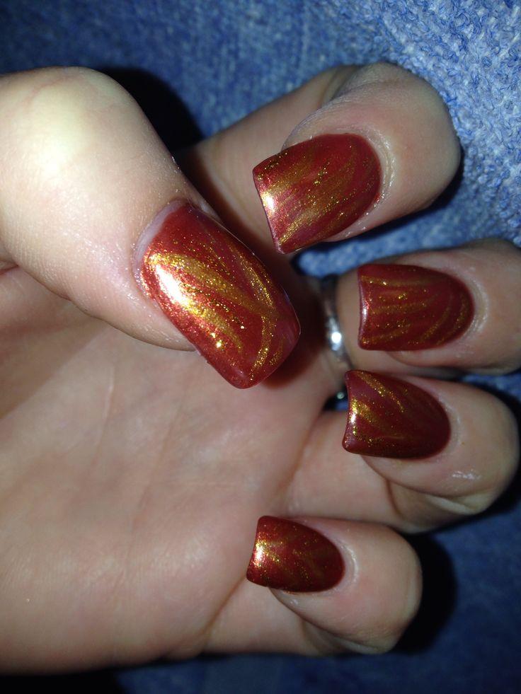 Greek goddess inspired nails