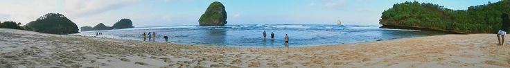 Watu Leter beach. It's best to camp here. It's also family-friendly, but if you got so many children to accompany, it's not that fun. Moreover, we can't swim here. As I  was there with friends, it's the best.