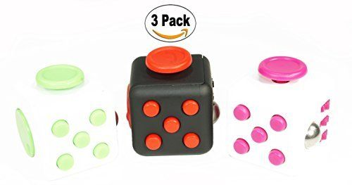 Fidget Toy Cube 3 Pack For Adults & Kids | Durable Plastic Frame Play Dice For Work, Class & Home | Relieve Stress, ADD/ADHD Symptoms, Fight Boredom & Restlessness & Improve Concentration. #Fidget #Cube #Pack #Adults #Kids #Durable #Plastic #Frame #Play #Dice #Work, #Class #Home #Relieve #Stress, #ADD/ADHD #Symptoms, #Fight #Boredom #Restlessness #Improve #Concentration