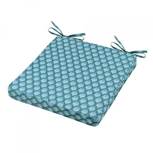 Galette de chaise Aquatika - Bleu - Coussin et matelas pour mobilier