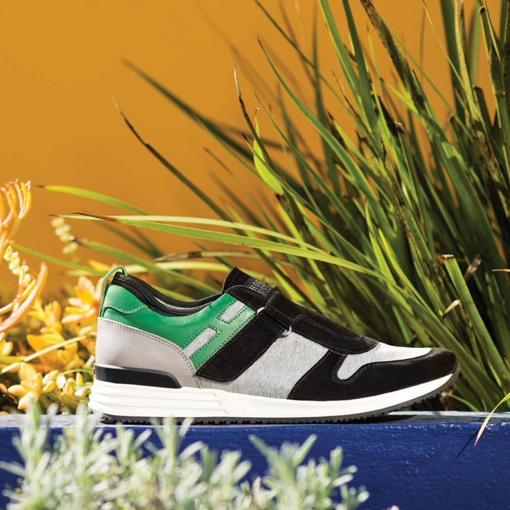 #HOGANREBEL R218 black and green suede #Sneakers with leather detailing and velcro fastening. Check out the urban mood on www.hoganrebel.com