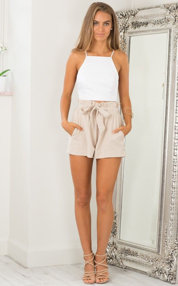 All Rounder shorts in beige | SHOWPO Fashion Online Shopping