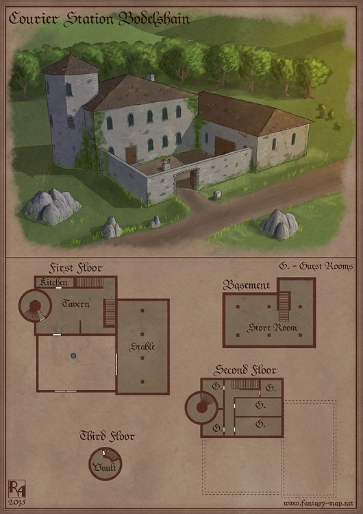 Family Manor of the Shints, Consuls of Dolsiel. This small manor is where Greth grew up. Her family were farmers that supported many of the families in the general proximity.