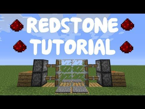 Minecraft 1.7: Redstone Tutorial - Compact 2x2 Piston Door - YouTube